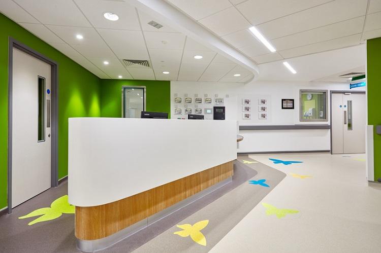 Hospital lobby Flooring