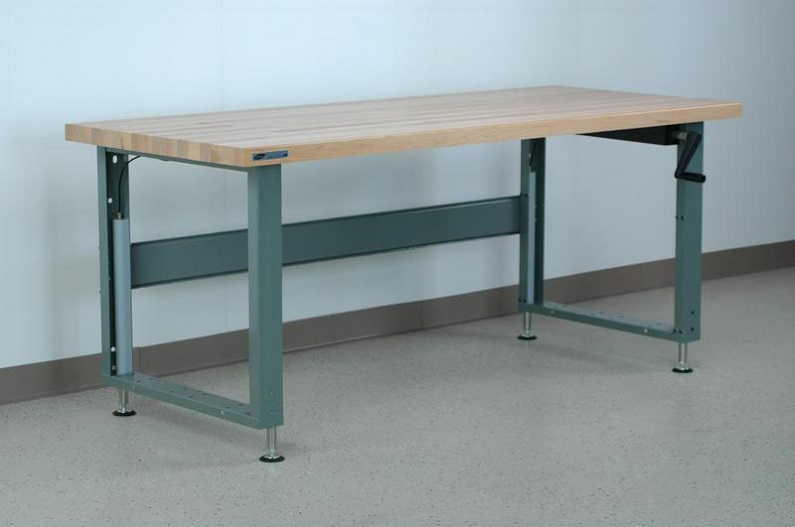 adjustable height/industrial workbenches