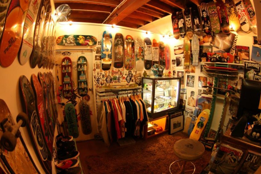 picture of a shop with different types of skates