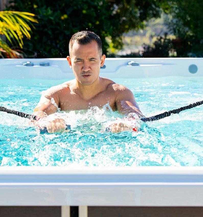 Exercise in Swim Spa