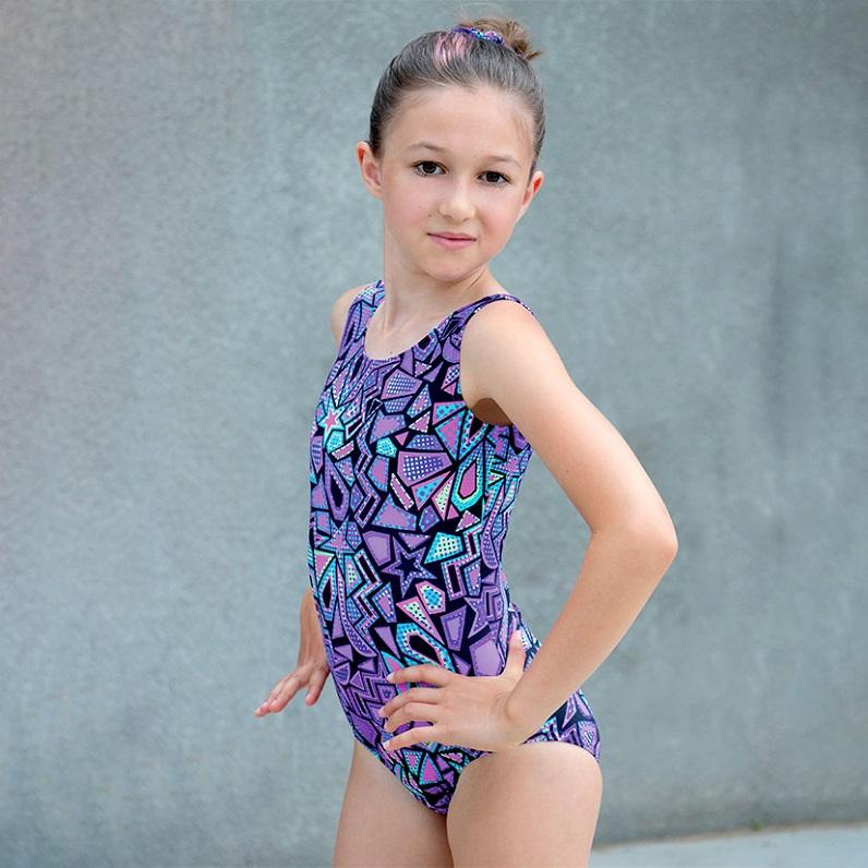 Girl gymnastic leotard