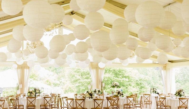 Wedding paper lanterns
