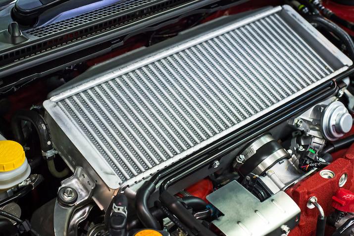 clean car radiator