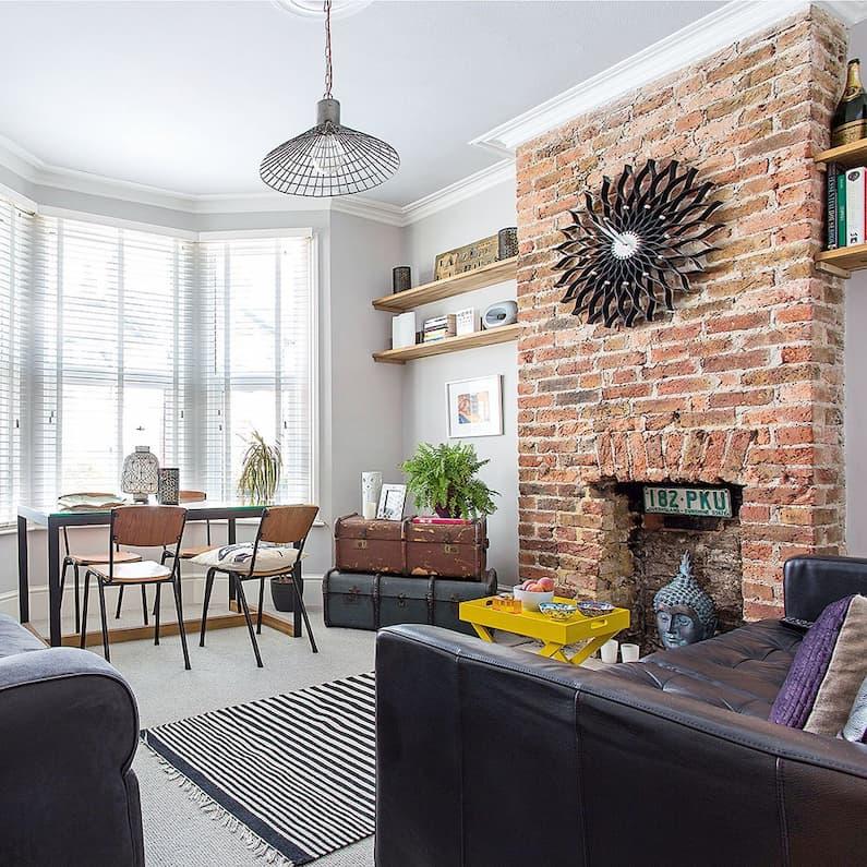 accent wall brick