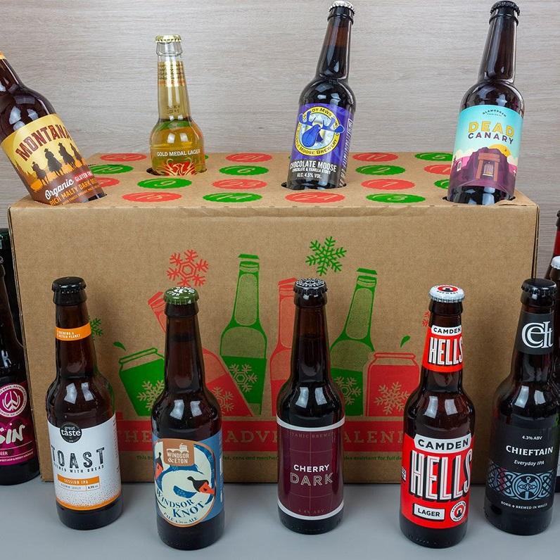 packaging of beer advent calendar gift